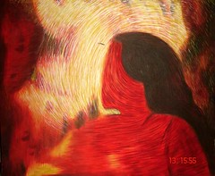 Woman in whirl (Shubnum Gill) Tags: india art painting women asia delhi canvas oil gill newdelhi shubnum shubnumgill wwwshubnumgillcom