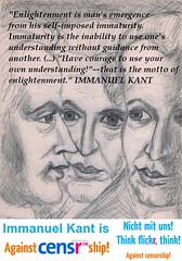IMMANUEL KANT is against censorship!
