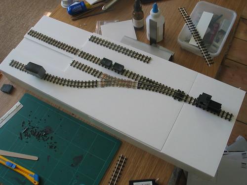 Cwmafon Uchaf - track laid