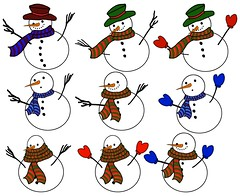 Various snowmen (Gravityx9) Tags: xmas friends holiday snow cutout snowmen multicolored xmastime ping magical blogthis 1208 smorgasbord 1108 americaamerica recreaciones redbubble merrychristmashappynewyear yourbestshot trabajarconphotoshop photoscalendars everydayissunday allkindsofbeauty 111808 yagottastartsomewhere sensationalcreations seasonsmagic envyofpsphotoart thereissnowitscold happycraftscollectibles