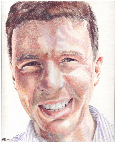 Colored pencil drawing entitled Diarmuid