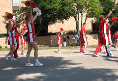4th of July Parade 2007 (.michael.newman.) Tags: usa wisconsin america cheerleaders 4th july parade madison milwaukee fourthofjuly uwmadison summertime cheerleader fourth universityofwisconsin pompoms shorewood