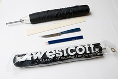"Westcott 45"" Optical White Satin Umbrella with Removable Black"