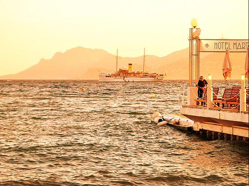 Cannes - Golden sunset