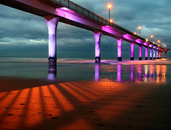 1 of 10 (Daniel Murray (southnz)) Tags: new longexposure light shadow sea newzealand christchurch colour reflection beach night landscape evening coast pier sand scenery brighton led shore nz southisland abigfave superaplus aplusphoto southnz