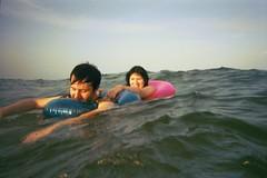 nate and emily (Ikayama) Tags: park camera friends summer bali beach 35mm underwater iso christi corpus 800 waterproof disposable ferrania 27exp