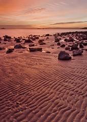 Parallels (Ev Lloyd) Tags: ocean sea orange beach water lines clouds canon sand bravo rocks glow ripples lowtide 1740mm naturesfinest blueribbonwinner xti 400d mywinners colorphotoaward aplusphoto superbmasterpiece infinestyle auselite corinellabay