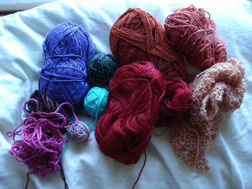 sock yarn scraps for babette?