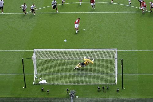 After - Van Persie's penalty against Fulham