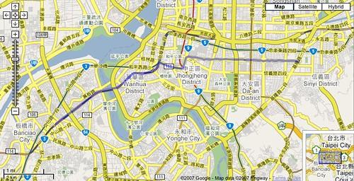 2007大台北無車日路線圖