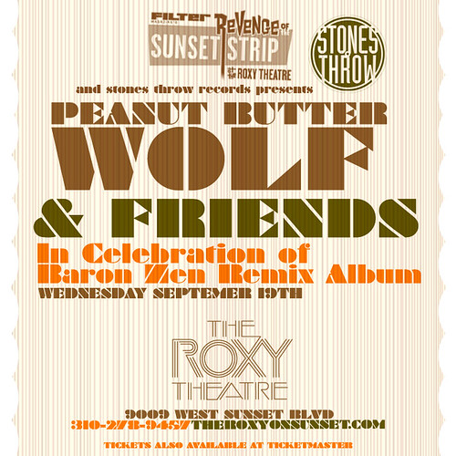 Filter & Stones Throw Present Peanut Butter Wolf & Friends