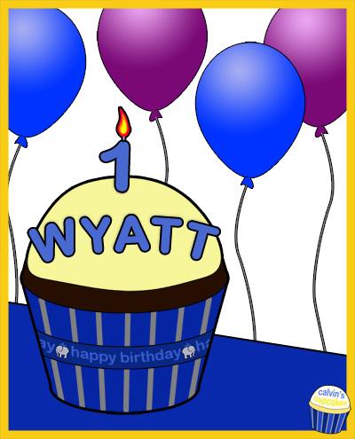 Wyatt's 1st birthday cupcake