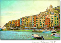 Acquerello (in eva vae) Tags: old blue houses sea sky italy panorama seascape art church nature water colors canon watercolor painting landscape boats eos rebel bay boat dock scenery kiss eva italia mare blu framed liguria azure barche canvas cape framing portovenere colori paesaggio textured tqm laspezia x3 baia postprocessing 500d promontorio acquerello porticciolo eos500d superstarthebest t1i eosrebelt1i inevavae givemeathrill