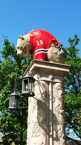 Chicago Blackhawks fever in Glenview Illinois. June 2010.
