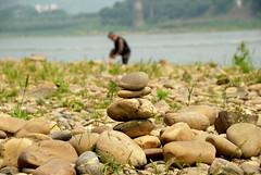 Riverside (faungg's photo) Tags: china travel riverside stones cobblestones  chongqing     jialing