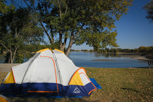 Our campsite in Dodge City, KS