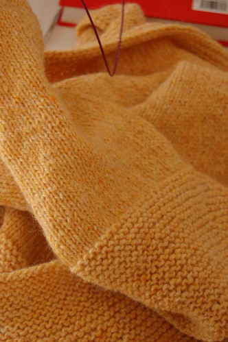 Yellow Garter Yoke Cardigan