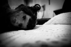 Sguardo perso/Lookout (Angelo Raia) Tags: bw black nikon doll bn occhi sguardo angelo raia bambola d3000