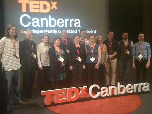 The presenters at TEDxCanberra 2010