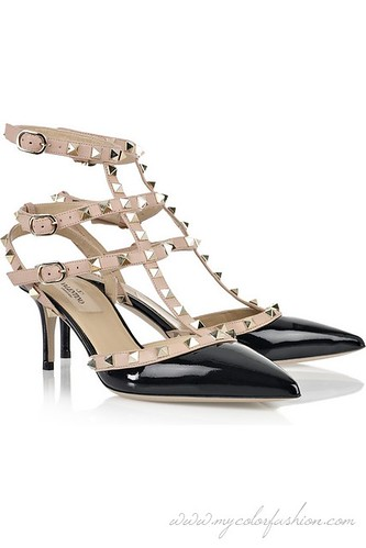 Valentino-Studded-patent-leather-pumps