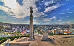 Yerevan, Armenia /  (Seroujo) Tags: panorama mountain skyline canon eos cityscape tokina mount armenia yerevan 11mm hdr masis ararat 500d      t1i