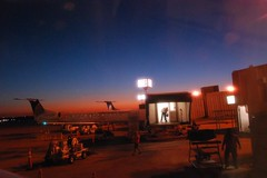 Airport at sunset (faungg's photos) Tags: travel sunset colors airport houston   creativecommonscentral