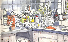 Ruth's Kitchen, Chipping, Lancashire. (larosecarmine) Tags: pen ink drawing lancashire watercolour reportage chipping
