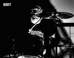 Drummer -BBBIT (webholic1981) Tags: bw music white black rock drums blackwhite sticks nikon drum w flash band sigma tama sw stick musik superstar blitz schwarzweiss 1770 rockband weiss external musicband schlagzeug musikgruppe d80 sigma1770 strobist nikoncls nikond80 tamasuperstar