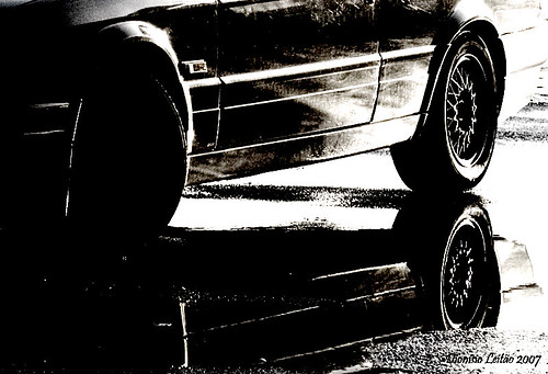car, photoshop and black and white
