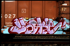 #9-Graffiti-on-Trains (rob_valine) Tags: graffiti trains railroadcars contaxg2 fujivelvia100 nikoncoolscanved eliteimages zeiss45mmf2lens tiffensky1afilter sliksprintprotripod sekonicl508zoommaster