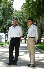 Smiling Gentlemen (Hamed Saber) Tags: tree men garden persian iran brother persia saber gathering iranian  hamed hossein mojtaba farsi            flickr:user=mojtabaa upcoming:event=214803