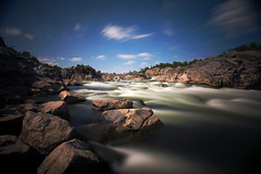 low falls (trentroche) Tags: longexposure blue water waterfall rocks waterblur greatfallsnationalpark nd40