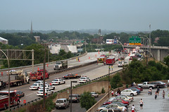 I-35W Bridge Collapse(8) (Poppyseed Bandits) Tags: bridge news unitedstates photojournalism minneapolis disaster collapse emergency mn 35w breakingnews takenbyjeff i35w bridgecollapse summer2007 minnesotabridgecollapse minneapolisbridgecollapse 35wbridgecollapse