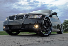 BMW 335i on CUSTOM SEVAS WHEELS R5 (GREATONE!) Tags: black car nikon florida miami wheels 200 everglades bmw rims 18135mm sevas