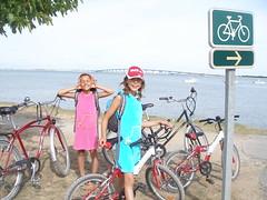 Cycling across bridge to Ile de Re (Meier Legault France 2007) Tags: france meier 2007 legault