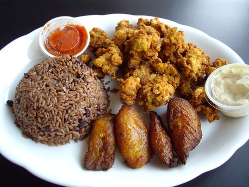 Cuban Tropical Grill Fried Oyster Platter