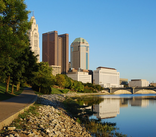 Downtown Columbus Bike Path from Northbank Park