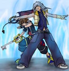 Riku Shielding Sora (KingdomCatHearts) Tags: awesome kh adore sora riku protecting kh2 sheilding