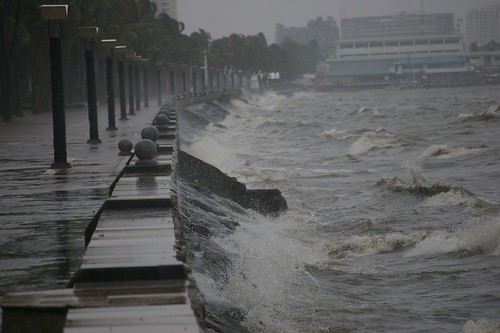 A Typical Storm Photo in Manila Bay Area