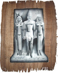 isis osiris and nefertiti