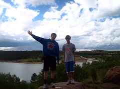 086 (Cougarjay94) Tags: trees sun lake mountains water beautiful hail clouds colorado brother demented hailstorm