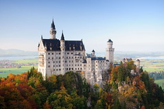 Neuschwanstein Castle (scott photos) Tags: castle germany munich bavaria iso200 nikon 1755mmf28g nikkor neuschwanstein watermark hohenschwangau 30mm 1755mm f32 1755mmf28 0013sec byscottphotos d300s
