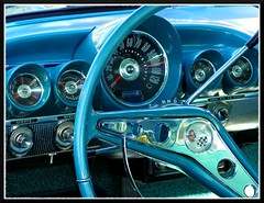 1960 Impala Dash (Dusty_73) Tags: auto classic chevrolet car wheel vintage gm steering general interior motors chevy dash american fresno guages impala speedometer 60 sixties 1960