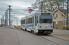 """Pittsburgh Light Rail--""""the T""""--leaving the private right-of-way in Beechview and entering street-running on Broadway Avenue, October 15, 2010 (Ivan S. Abrams) Tags: ivansabrams abramsandmcdanielinternationallawandeconomicdiplomacy ivansabramsarizonaattorney ivansabramsbauniversityofpittsburghjduniversityofpittsburghllmuniversityofarizonainternationallawyer"""