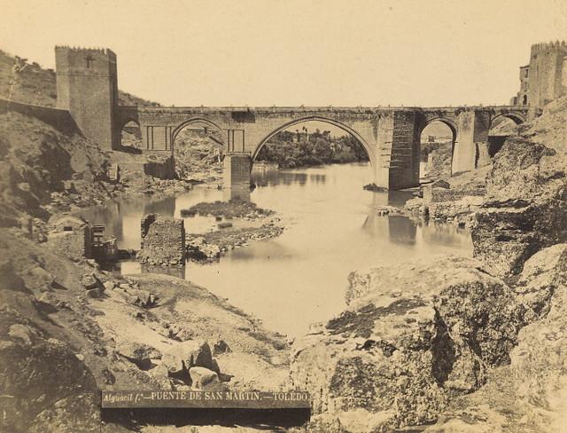 Puente de San Martín hacia 1880. Fotografía de Casiano Alguacil