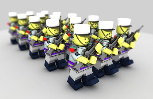 Legionaires On Parade