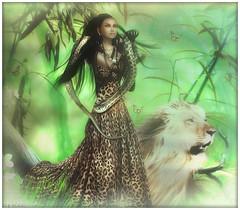 Zoey~Jungle (Skip Staheli *11 YEARS SL PHOTOGRAPHY*) Tags: snake avatar lion sl fantasy secondlife jungle dreamy skipstaheli zoeyneutron