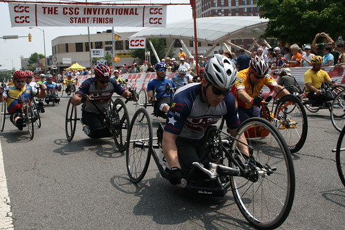 Handcycling Criterium Championship Start