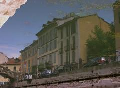 Milano reflections (Tengen Toppa Kaitsuu Me) Tags: italy water photoshop reflections italia milano lombardia channel italians specchio navigli riflesso lombardy