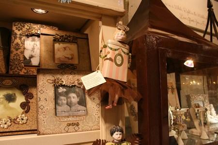 tin doll assemblage at Garden Argosy